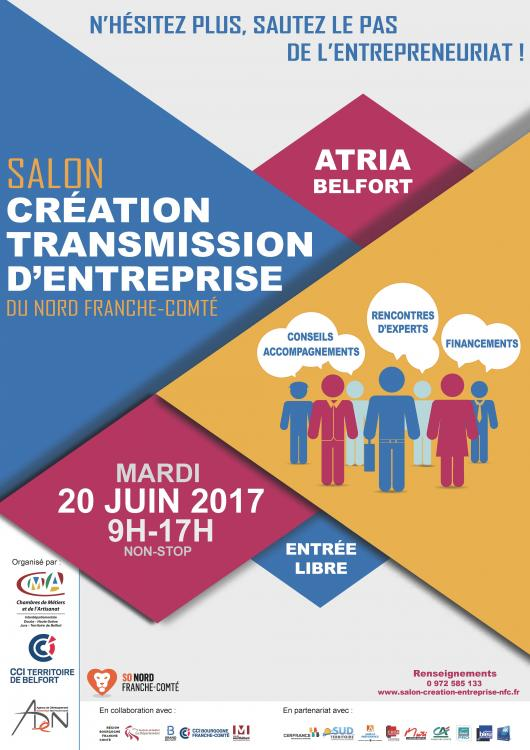 Salon de la cr ation transmission d 39 entreprise belfort for Salon creation entreprise
