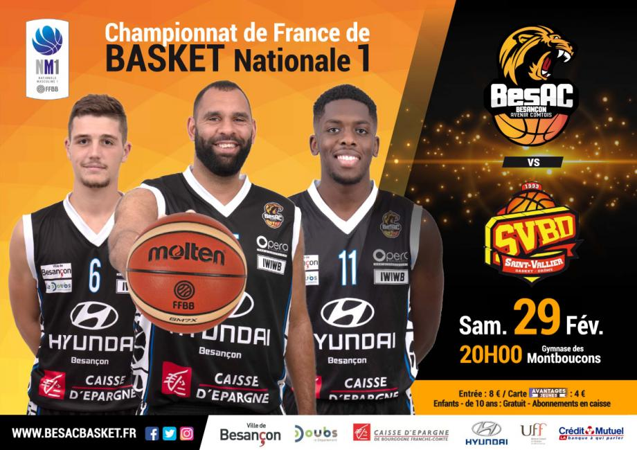 Basket : BesAc / Saint Vallier