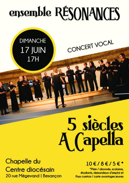 ENSEMBLE RÉSONANCES : 5 SIÈCLES A CAPELLA