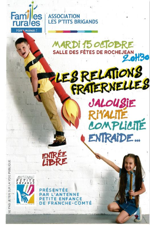 CONFÉRENCE - LES RELATIONS FRATERNELLES