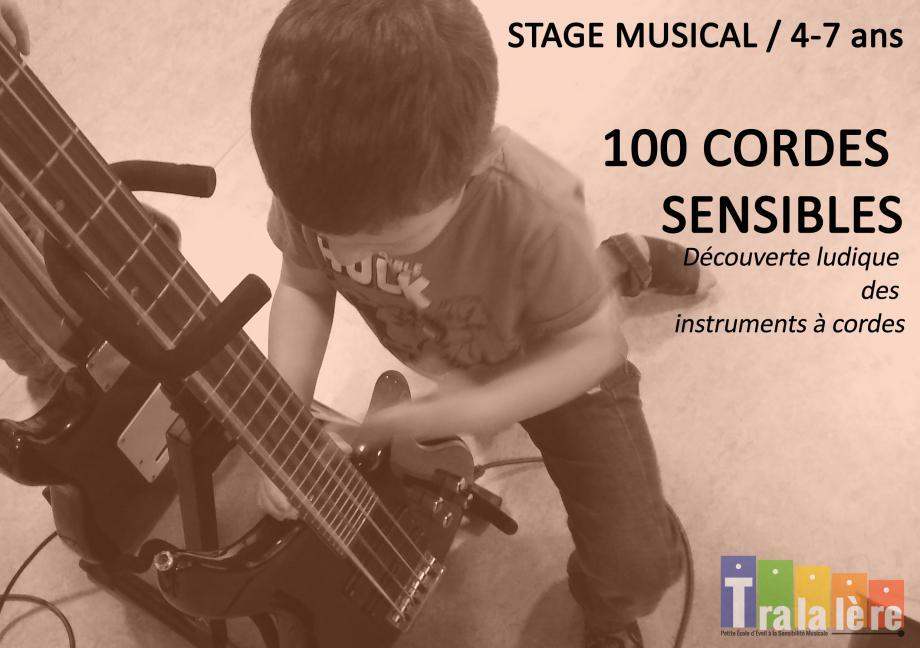 STAGE MUSICAL 100 CORDES SENSIBLES